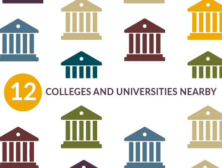 12 colleges and universities nearby