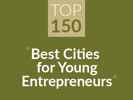 top 150 best cities for young entrepreneurs
