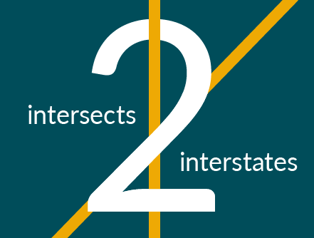 intersects two interstates