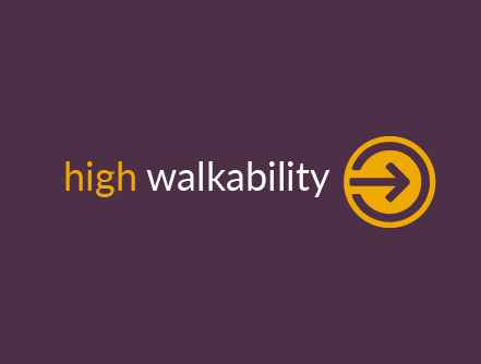 high walkability score of 90